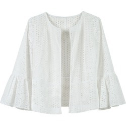 Grace Hill Broidery Ruffle Sleeve Jacket - Ivory - 14 found on Bargain Bro from Rivers for USD $14.65