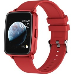 Todo Bluetooth Smart Watch With Temperature, Thermometer, Heart Rate And Blood Pressure Monitor - Red - One found on Bargain Bro from Noni B Limited for USD $36.40