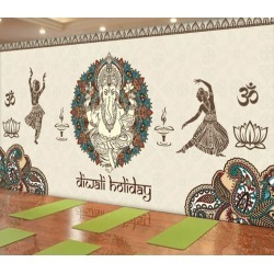 Aj Wallpaper 3d Elephant Totem 1045 Wall Murals Removable Wallpaper Woven Paper - Multi - XL found on Bargain Bro from Rockmans for USD $253.30