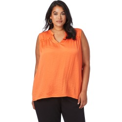 Beme Sleeveless Hammered Satin Top - Flame - 14 found on Bargain Bro from BE ME for USD $8.53
