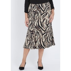 Millers A-line Animal Print Midi Skirt - Neutral Zebra - S found on Bargain Bro from Noni B Limited for USD $4.70