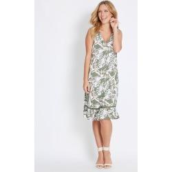 Rockmans Sleeveless Ruffle Hem Shift Dress - Palm - 16 found on Bargain Bro from Katies for USD $10.66