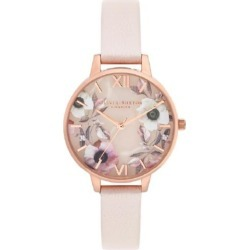Olivia Burton Semi Precious Rose Gold Pearl Pink Watch