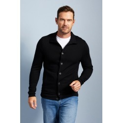 Southcape Merino Blend Buttonup Cardigan - Black - 2XL found on Bargain Bro from crossroads for USD $44.12
