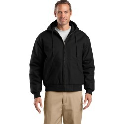 Cornerstone Tall Duck Cloth Hooded Work Jacket - Black - 4XLT found on Bargain Bro from Rivers for USD $73.26