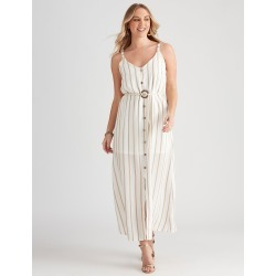 Crossroads Rope Belt Button Maxi - Stripe Print - 8 found on Bargain Bro Philippines from crossroads for $19.65
