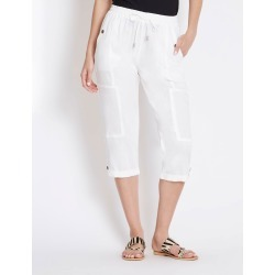Rockmans Crop Linen Pocket Pant - Optic White - 12 found on Bargain Bro India from Rockmans for $5.32