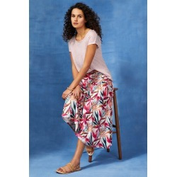 Capture Gather Waist Skirt - Tropical Floral - 16 found on Bargain Bro Philippines from crossroads for $36.80