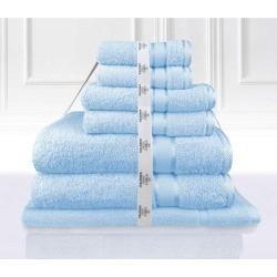 Kingtex 7 Piece Towel Bath Sheet Set - Baby Blue - One found on Bargain Bro from Noni B Limited for USD $27.12