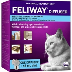 Feliway Fear & Stress Diffuser & Refill For Kittens & Cats 48ml - Multi found on Bargain Bro from Rivers for USD $50.30