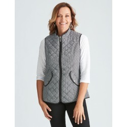 Millers Lightweight Quilted Vest - Houndstooth - 20 found on Bargain Bro from Noni B Limited for USD $17.63