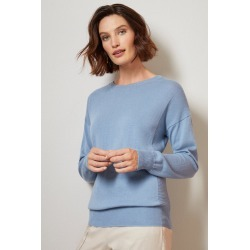 Grace Hill Cashmere Blend Crew Neck - Antique Blue - M found on Bargain Bro from crossroads for USD $67.51