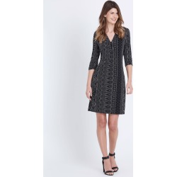 W.lane Mono Print Tie Dress - Black - XS found on Bargain Bro from BE ME for USD $28.17