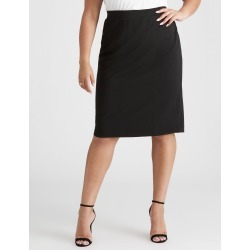 Beme Textured Skirt With Split - Black found on Bargain Bro India from crossroads for $13.87
