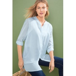 Capture Chiffon Trim Tunic - Soft Blue - 8 found on Bargain Bro Philippines from Rivers for $25.82