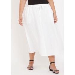 Autograph Linen A Line Skirt - White