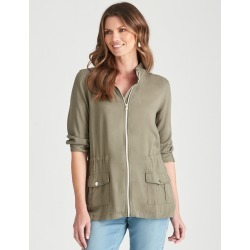 W.lane Pocket Detail Jacket - Khaki - 8 found on Bargain Bro from Katies for USD $20.71