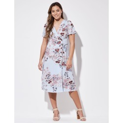 Crossroads Bttn Wrap Midi Dress - Print Multi - 14 found on Bargain Bro India from Rockmans for $20.28