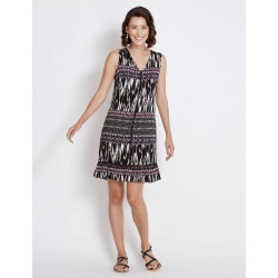 Rockmans Sleeveless Lurex Print Shift Dress - Aztec Multi - 16 found on Bargain Bro India from Rockmans for $14.20