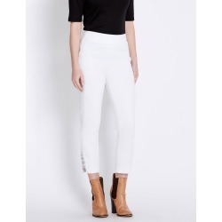 Rockmans 7/8 Eyelet Tab Detail Pant - White found on Bargain Bro India from W Lane for $15.55