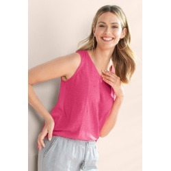 Capture Linen Tank - Pink - 12 found on Bargain Bro from crossroads for USD $6.37