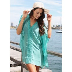 Lasculpte Women's Chiffon Kaftan Cover Up Beach Dress - Mint found on Bargain Bro from Noni B Limited for USD $17.61