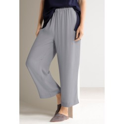 Grace Hill Straight Cropped Pants - Silver - 8 found on Bargain Bro Philippines from crossroads for $30.65