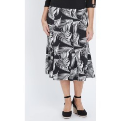 Millers A-line Palm Print Midi Skirt - Mono Palm - S found on Bargain Bro from Noni B Limited for USD $4.70