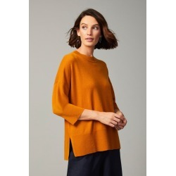 Grace Hill Cashmere Blend Boxy Sweater - Ginger - S found on Bargain Bro from crossroads for USD $61.64