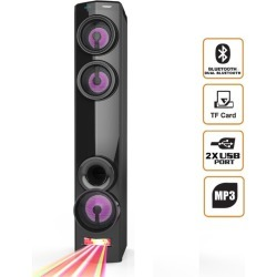 Todo Bluetooth Tower Speaker Led Dj Light Mode Dual Bluetooth Usb Microsd Aux Mp3 - Black - One found on Bargain Bro from Noni B Limited for USD $99.22
