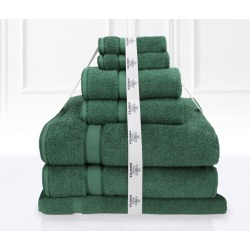 Kingtex 7 Piece Bath Towel Set - Forest - One found on Bargain Bro from Noni B Limited for USD $22.19