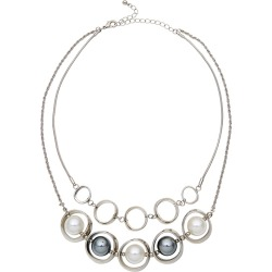 W.lane Oyster Pearl Layer Necklace - Grey found on Bargain Bro India from crossroads for $28.68