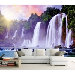 Aj Wallpaper 3d White Waterfall 1070 Wall Murals Removable Wallpaper Woven Paper - Multi - XXL found on Bargain Bro from Rockmans for USD $253.30