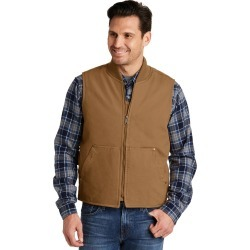 Cornerstone Washed Duck Cloth Vest - Duck Brown - XS found on Bargain Bro from Rivers for USD $57.43