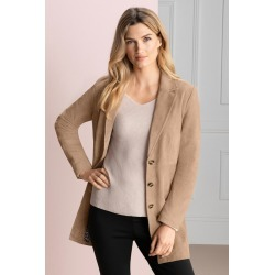 Grace Hill Suede Coat - Tan - 14 found on Bargain Bro India from Rockmans for $182.21