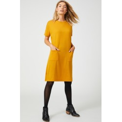 Capture Merino Pocket Dress - Butterscotch - S found on Bargain Bro from crossroads for USD $29.31