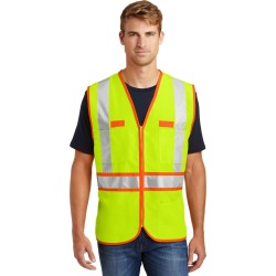 Cornerstone - Ansi 107 Class 2 Dual-color Safety Vest - Safety Yellow/ Safety Orange - 2XL found on Bargain Bro from Rivers for USD $20.50