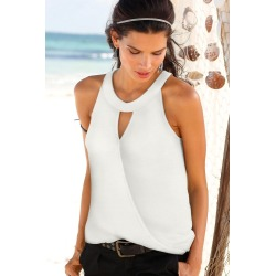 Urban Wrap Front Top - Ivory - 6 found on Bargain Bro from BE ME for USD $11.73