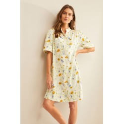 Grace Hill Linen Blend Tunic Dress - Watercolour Floral - 10 found on Bargain Bro Philippines from W Lane for $50.47