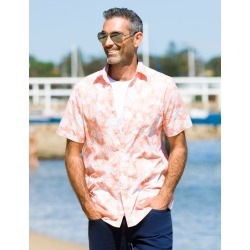 Rivers Short Sleeve Printed Cotton Shirt - Coral Island found on Bargain Bro from crossroads for USD $13.53