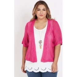 Beme Short Sleeve Cardigan - Pink - XS found on Bargain Bro from Noni B Limited for USD $11.16