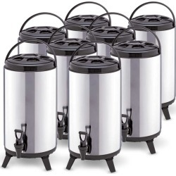 Soga 12l Portable Insulated Brew Pot With Dispenser 8pack - Stainless Steel - ONE
