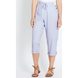 Rockmans Crop Linen Button Pant - Light Blue - 18 found on Bargain Bro Philippines from crossroads for $11.79