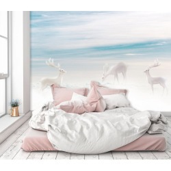 Aj Wallpaper 3d Hazy White Deer 521 Wall Murals Removable Wallpaper Self-adhesive Vinyl - Multi - XXL found on Bargain Bro Philippines from Noni B Limited for $385.05