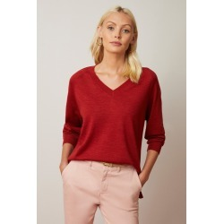 Emerge Merino V Neck Sweater - Autumn Red - M found on Bargain Bro India from Noni B Limited for $40.41