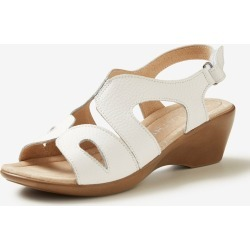 Rivers Leathersoft Wedge Sandal - White - 38 found on Bargain Bro India from Rockmans for $6.62