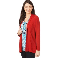 W.lane Textured Trim Cardigan - Red - S found on Bargain Bro from Noni B Limited for USD $14.73