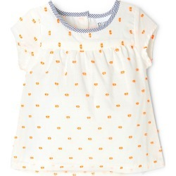 Pumpkin Patch Baby Girl Dobby Top - Orange