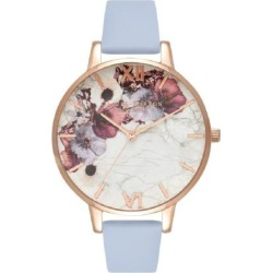 Olivia Burton Marble Florals Watch - Rose Gold