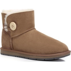 Ugg Boots Mini Button - Chestnut - AU W10/ M8 found on Bargain Bro from Noni B Limited for USD $76.31
